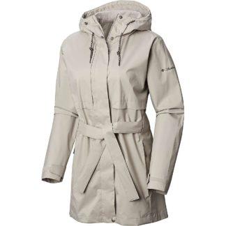 Columbia Women's Pardon My Trench Rain Jacket - Medium - Flint Grey