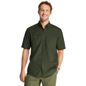 G.h. Bass & Co. Men's Salt Cove Texture Short-Sleeve Button-Down Shirt