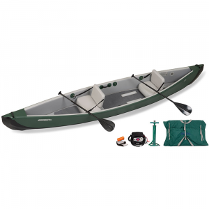 Green Sea Eagle TC16 Inflatable Canoe Electric Pump Tandem Package - 2-person