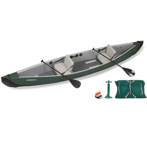 Green Sea Eagle TravelCanoe TC16 Inflatable Canoe Start Up Tandem Package - 2-person