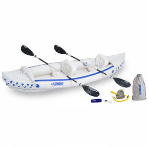 Sea Eagle Sport 370 Inflatable Kayak Deluxe Tandem Package