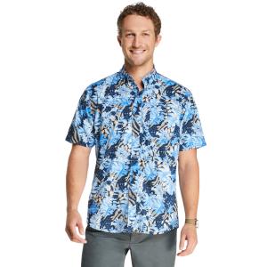 G.h. Bass Men's Bluewater Bay Printed Short-Sleeve Shirt