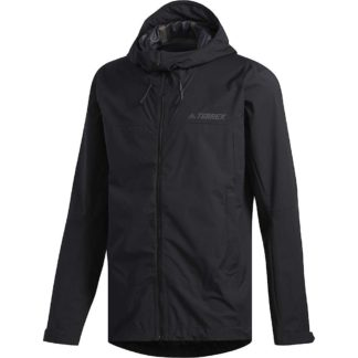 Adidas Men's Swift Rain Jacket - XL - Black