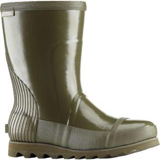 Sorel Women's Joan Rain Short Gloss Boot - 6 - Nori / Zest
